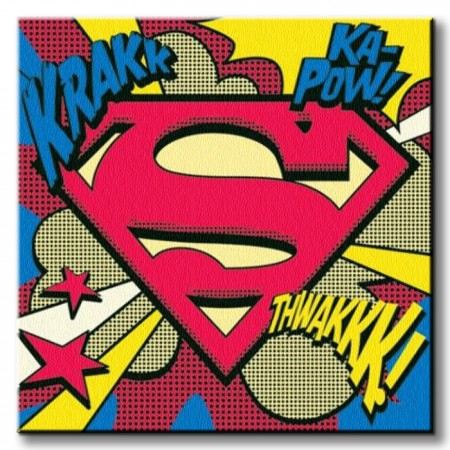 IP - SUPERMAN (POP ART SHIELD)40X40 thumbnail
