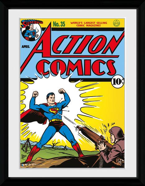 Superman Serieomslag Inramad 30 x 40cm thumbnail