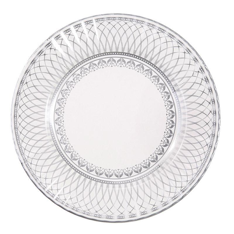 Tallrikar Elegant Silver 8-pack