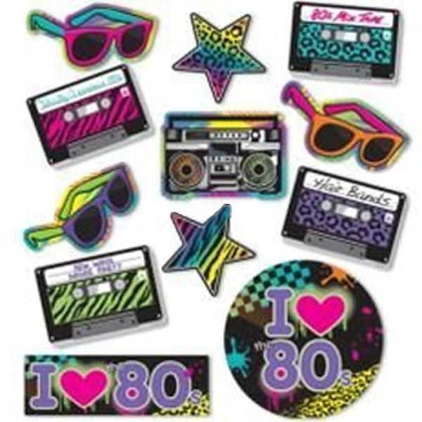 Dekoration Kit Neon 80-tal