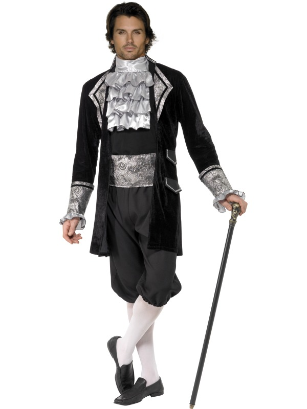 Sexig Barock Vampyrkostym Herr