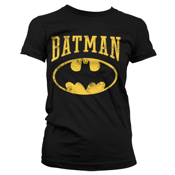 Vintage Batman Girly T-Shirt (Svart)