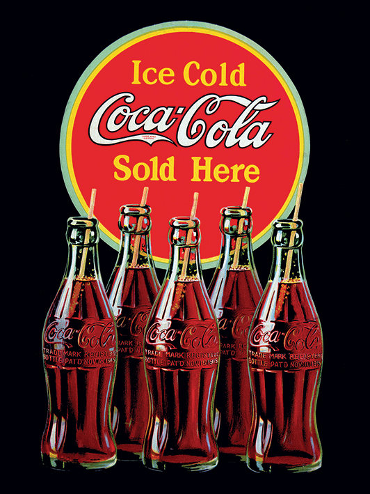 Coca Cola Sold Here Canvas 60 x 80cm thumbnail