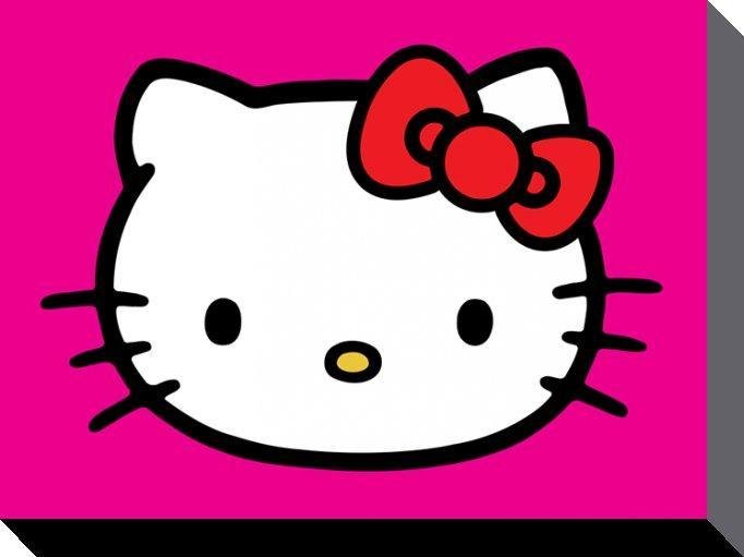 Hello Kitty Canvas Lila 60 x 80 cm thumbnail