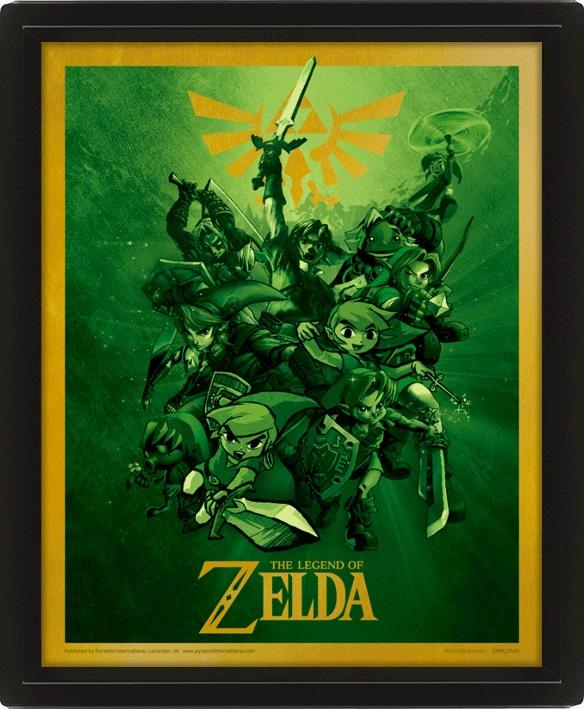 Zelda Lentikulär 3D-tavla